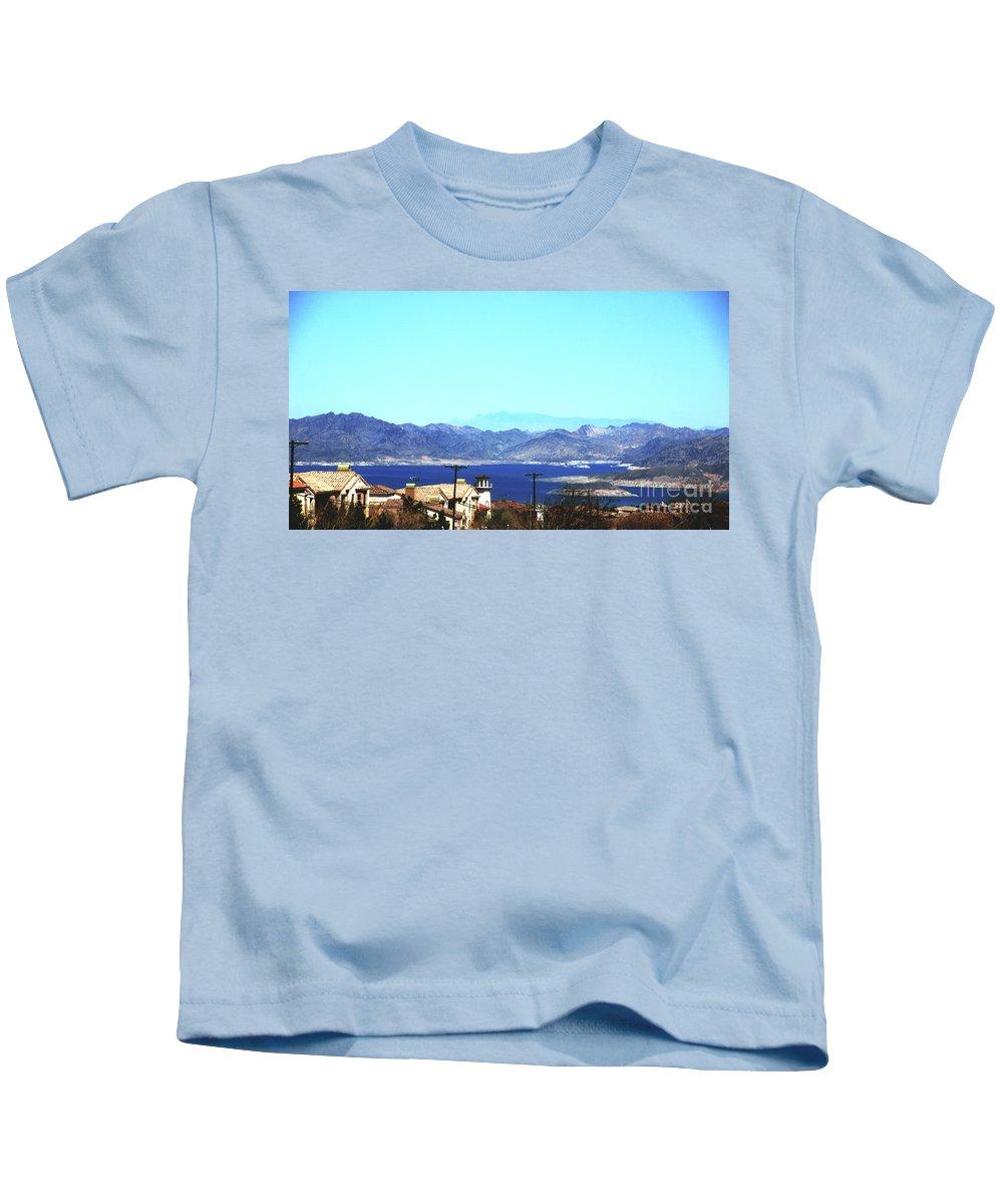 Lake Kids T-Shirt featuring the photograph Lake Mead Las Vegas by Susanne Van Hulst
