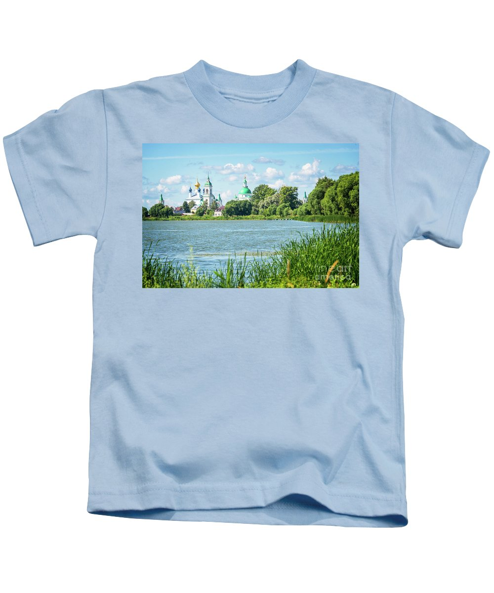 Russia Kids T-Shirt featuring the photograph Lake Nero by Delphimages Photo Creations