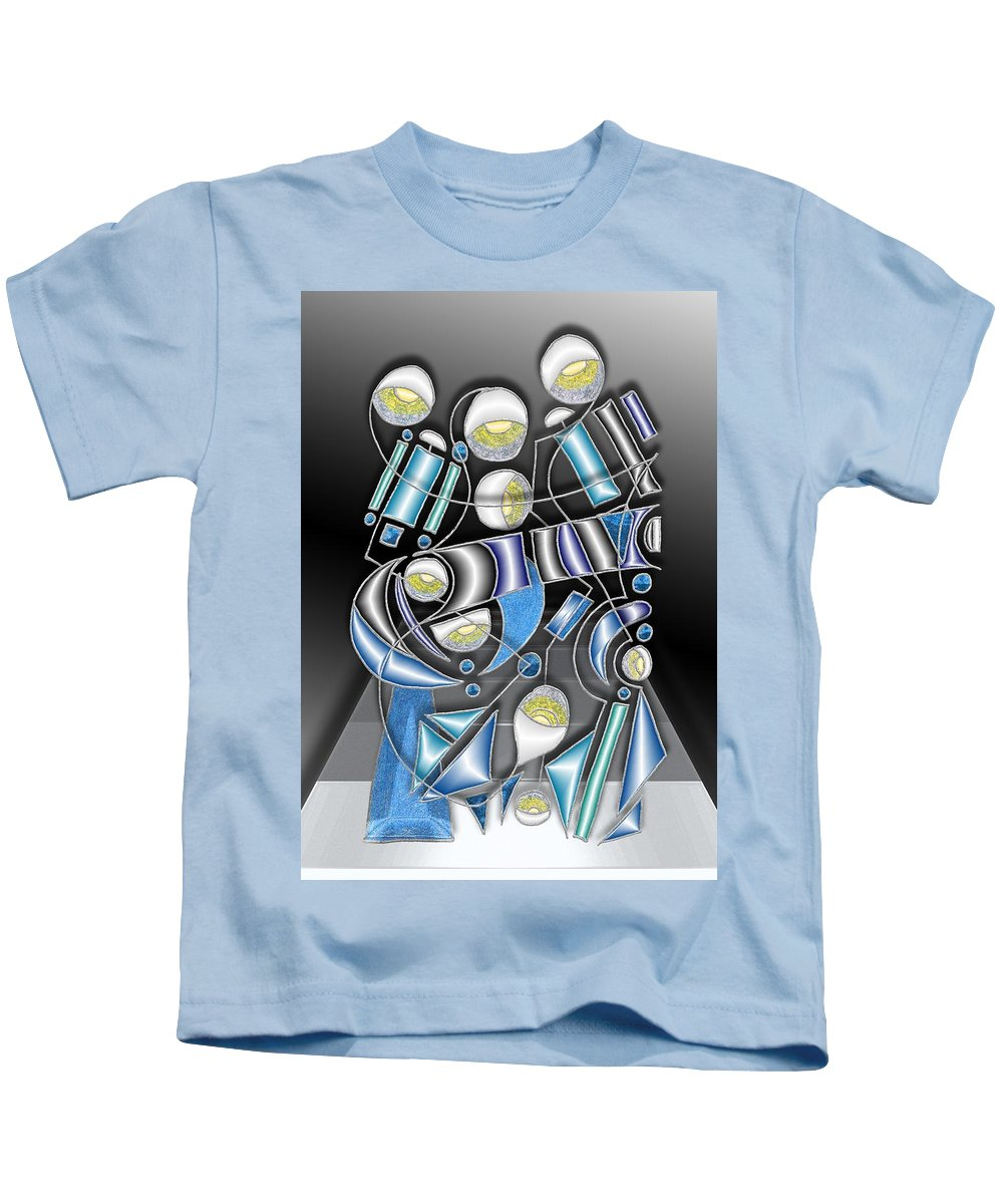 Gray Kids T-Shirt featuring the digital art Lamp Arrangement 3 by Mark Sellers