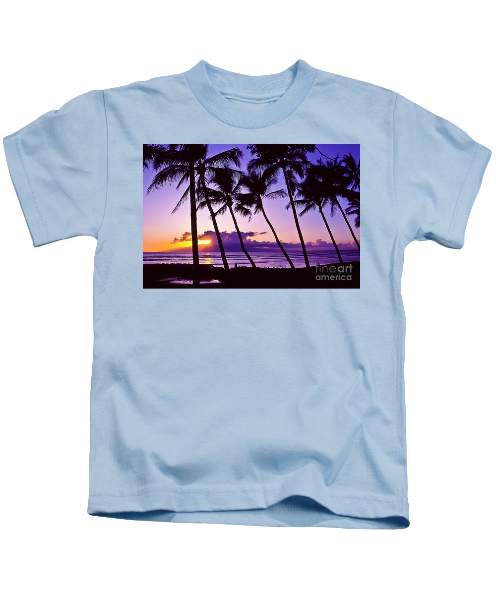 Landscapes Kids T-Shirt featuring the photograph Lanai Sunset by Jim Cazel