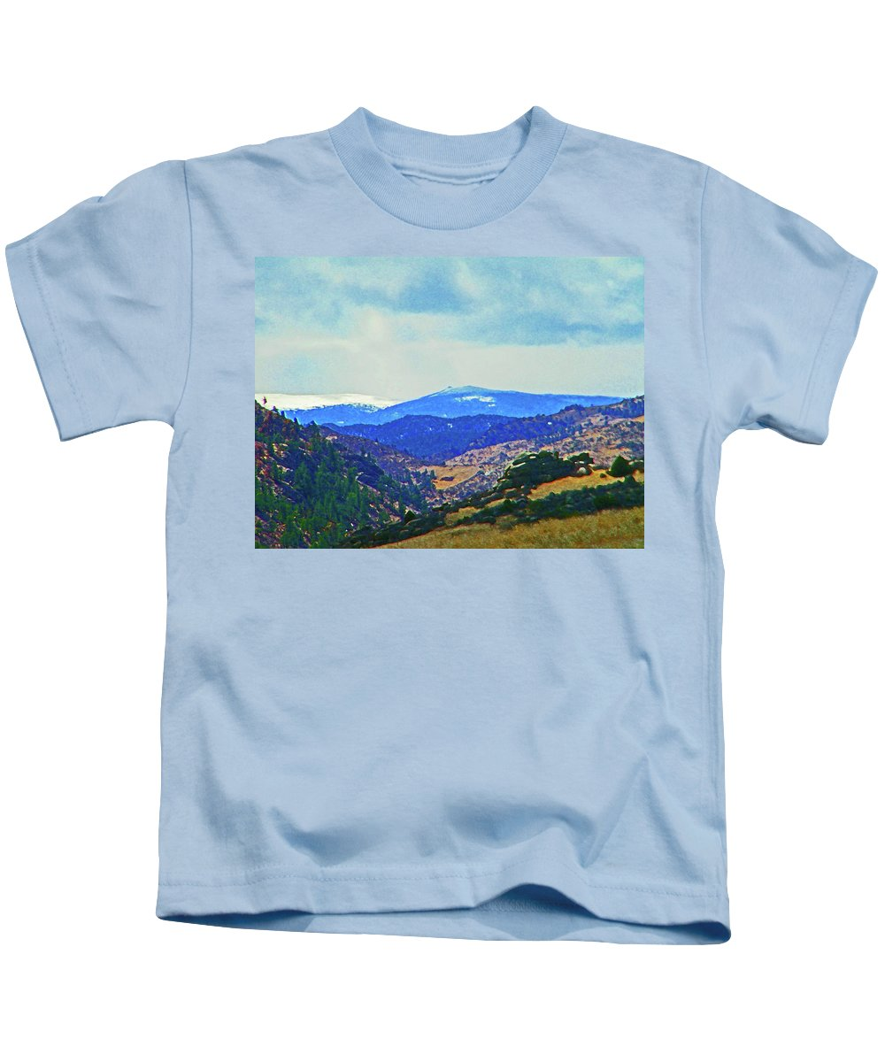 Abstract Kids T-Shirt featuring the photograph Landscape From Virginia Dale by Lenore Senior