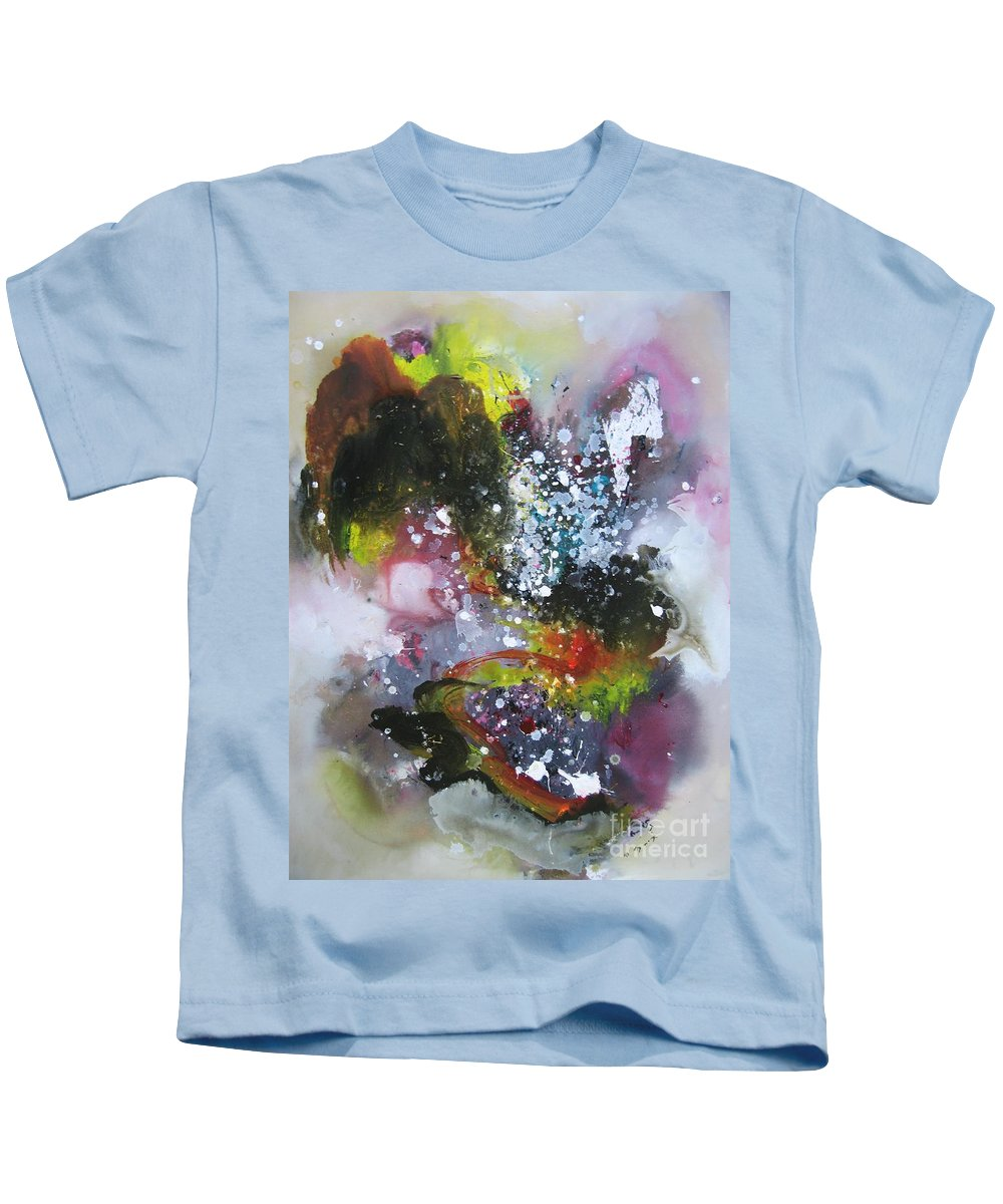 Large Art Kids T-Shirt featuring the painting Large Color Fever Art23 by Seon-Jeong Kim