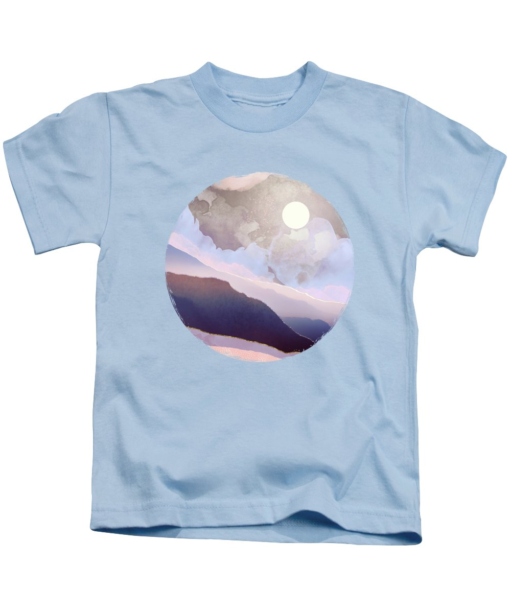 Lavender Kids T-Shirt featuring the digital art Lavender Night by Spacefrog Designs