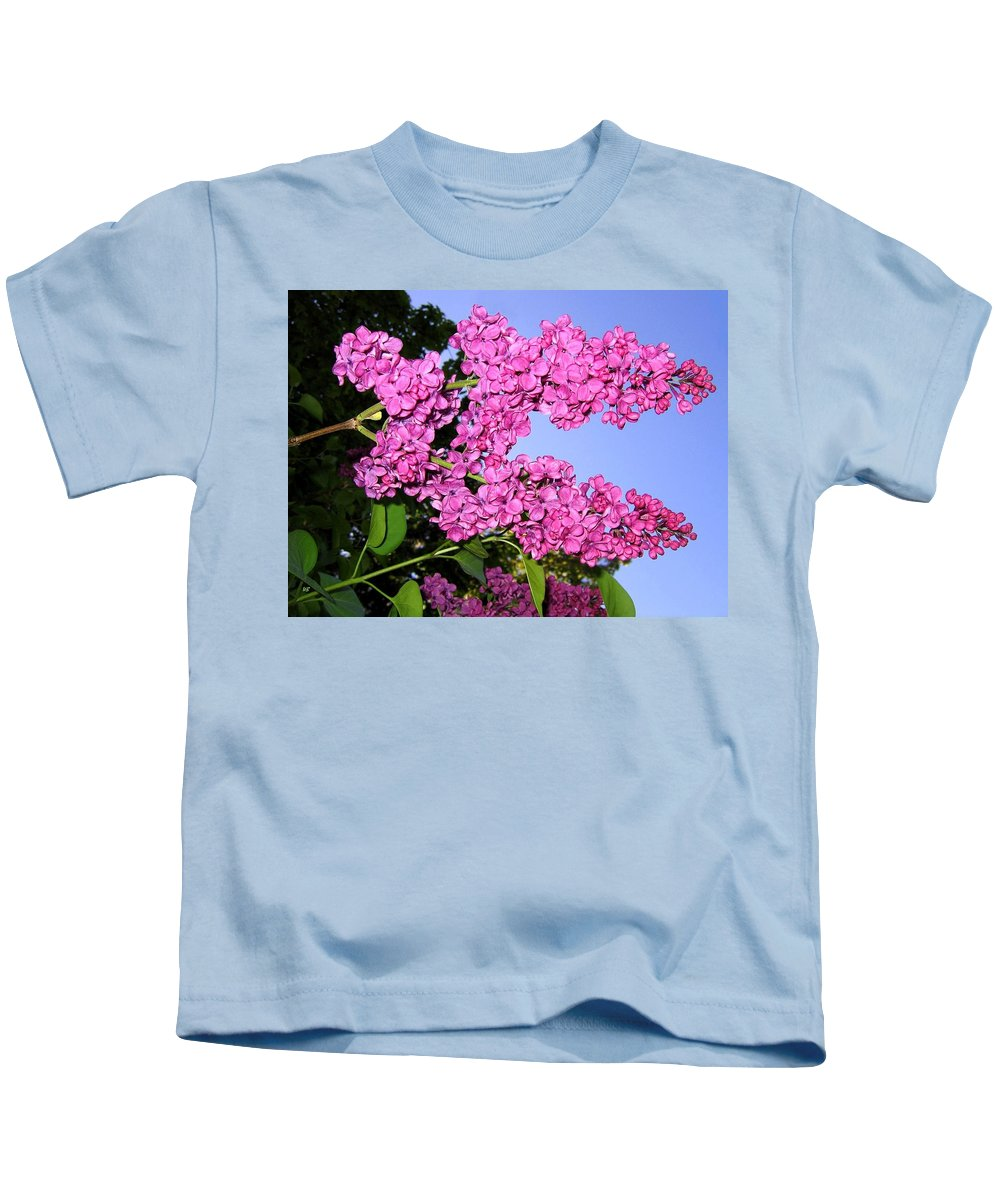 Lilacs Kids T-Shirt featuring the photograph Lavish Lilacs by Will Borden