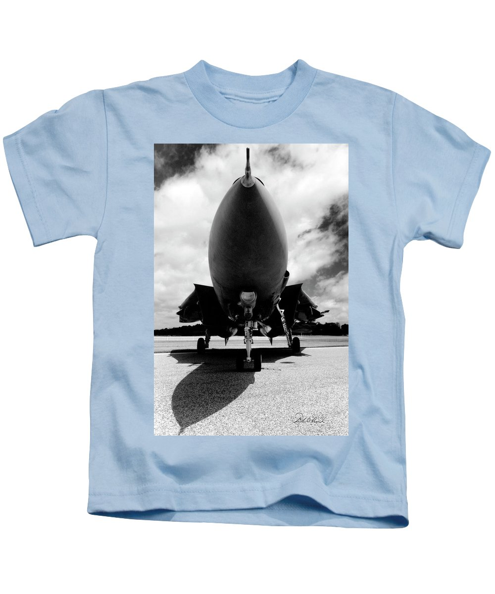 Photography Kids T-Shirt featuring the photograph Lawn Dart F 14 Tomcat by Frederic A Reinecke