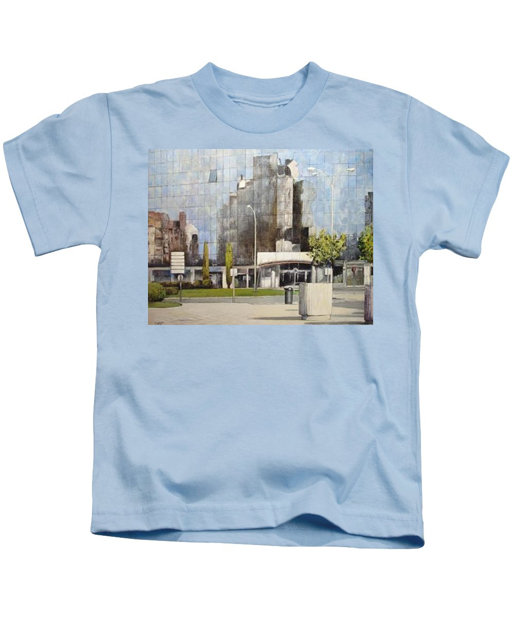 Leon Kids T-Shirt featuring the painting Leon by Tomas Castano