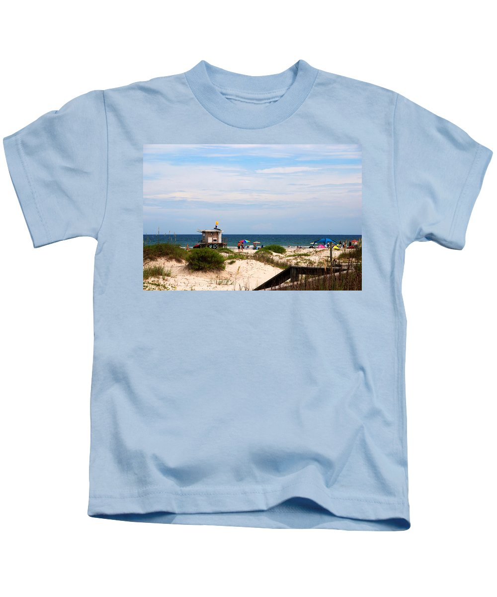 Lifeguard On Duty Kids T-Shirt featuring the photograph Lifeguard On Duty by Susanne Van Hulst