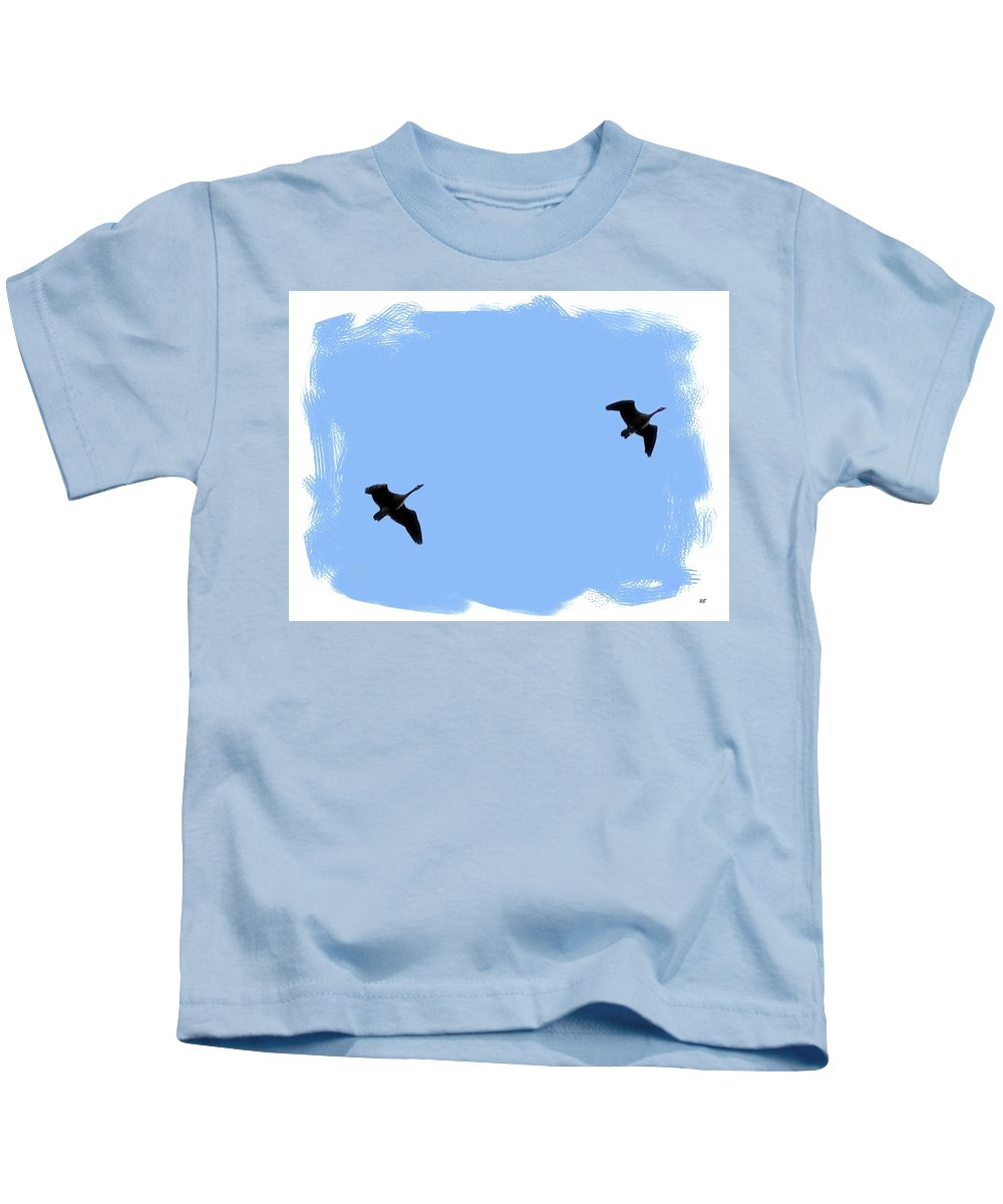 Canada Geese Kids T-Shirt featuring the photograph Lifetime Accord by Will Borden