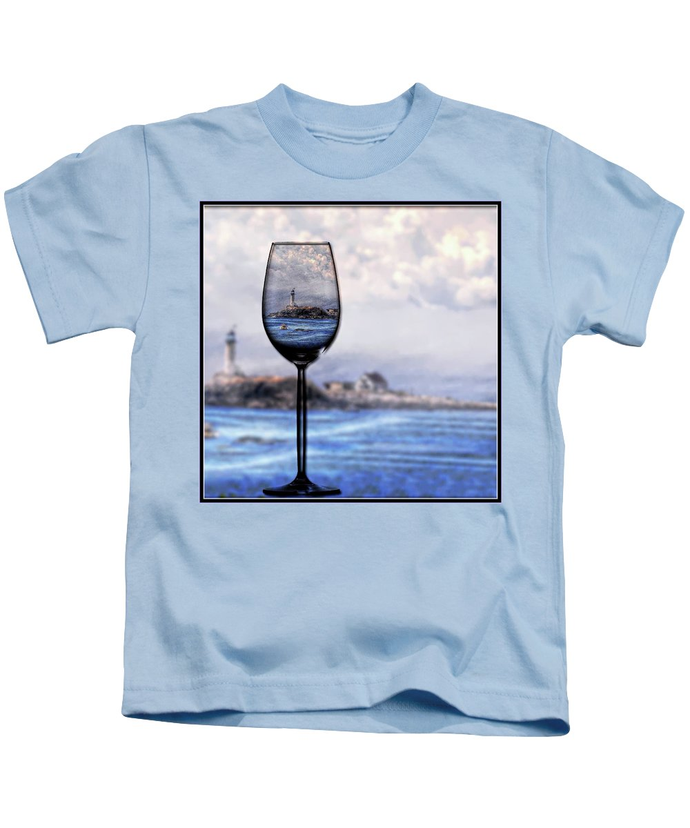 Lighthouse Kids T-Shirt featuring the photograph Lighthouse by Phyllis Meinke