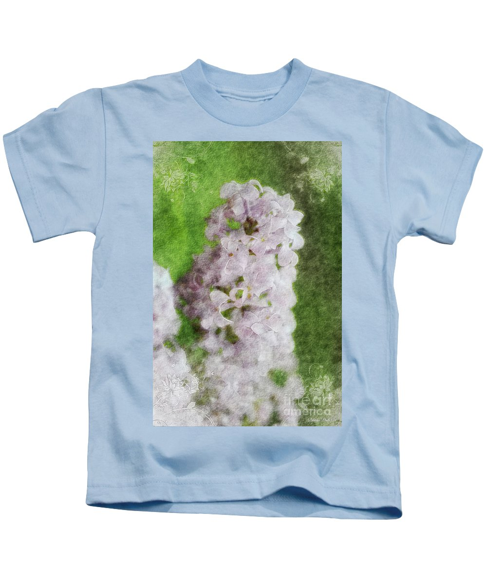 Nature Kids T-Shirt featuring the photograph Lilac Dreams - Digital Watercolor by Debbie Portwood