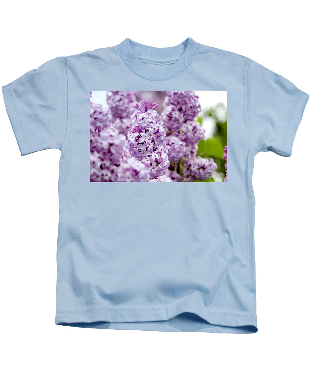 Lilac Kids T-Shirt featuring the photograph Lilac by Greg Fortier