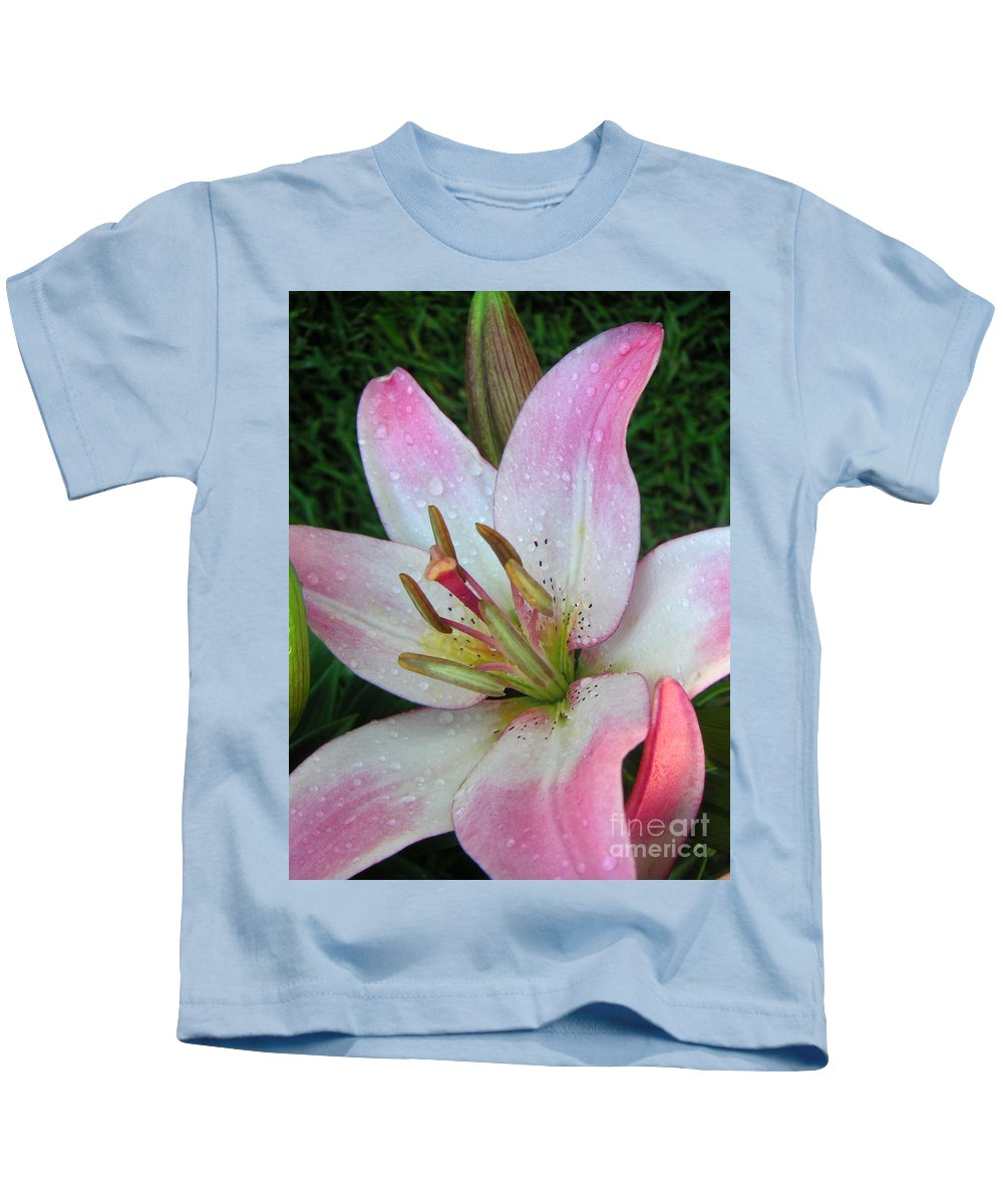 Nature Kids T-Shirt featuring the photograph Lily Singled Out by Lucyna A M Green