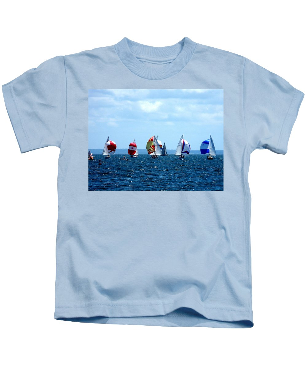 Landscape Kids T-Shirt featuring the photograph Line Up by Kendall Eutemey