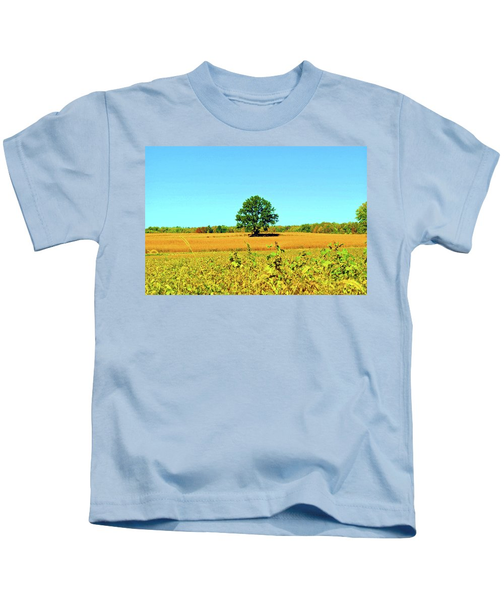 Tree Kids T-Shirt featuring the photograph Lone Tree by Jost Houk