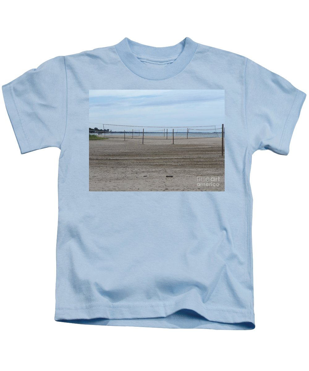 Volleyball Kids T-Shirt featuring the photograph Lonely Beach Volleyball by Erick Schmidt