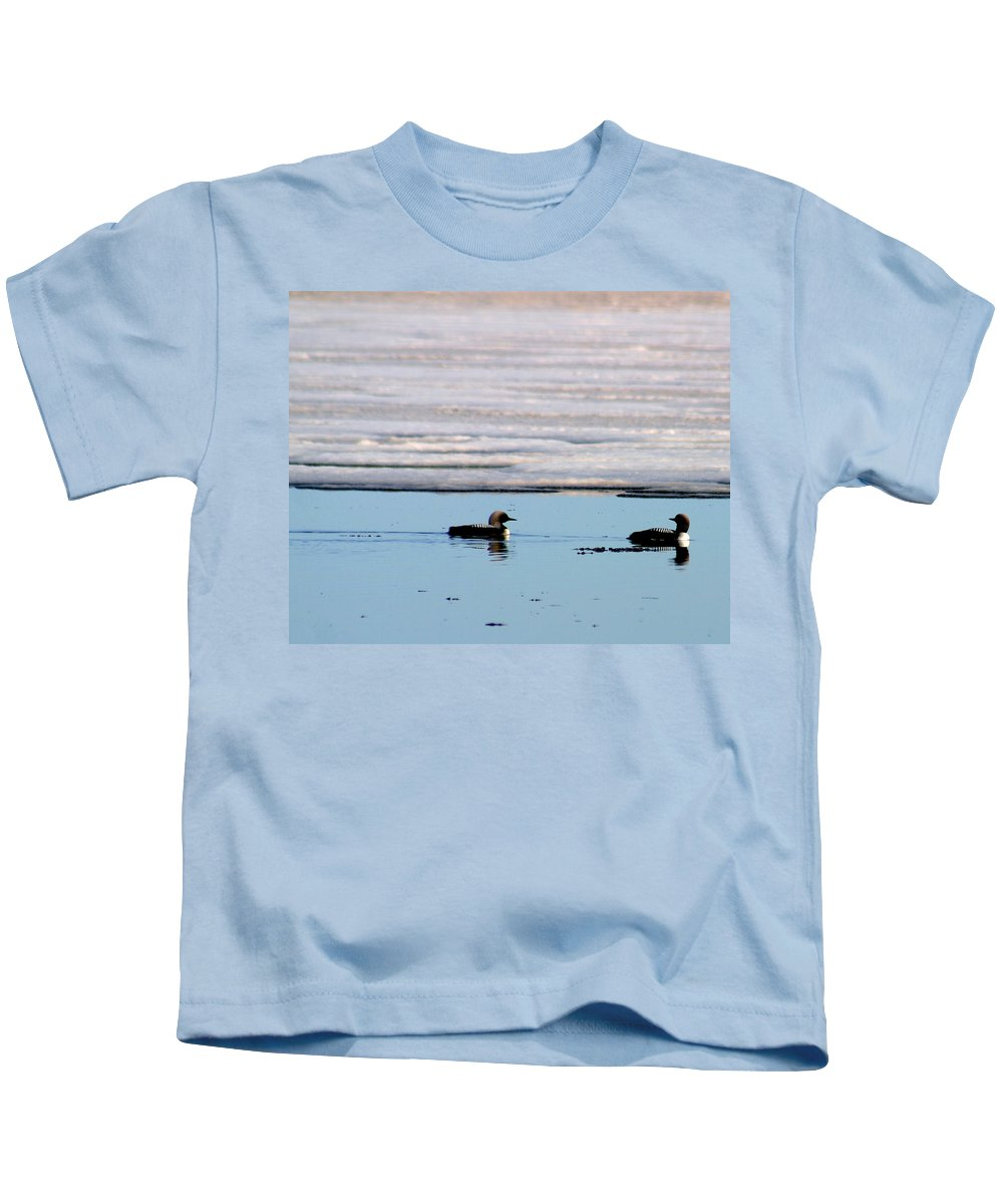Loons Kids T-Shirt featuring the photograph Loon On The Arctic by Anthony Jones