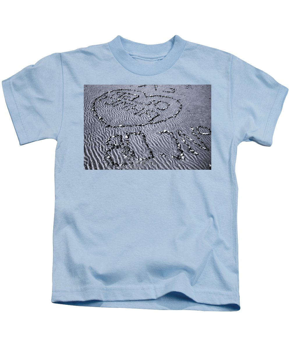 Horses 1 Kids T-Shirt featuring the photograph Love Gives Time by Jez C Self