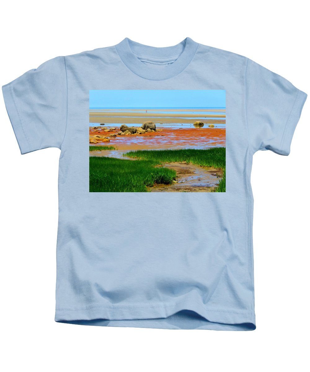 Beach Kids T-Shirt featuring the photograph Low Tide Beauty by Dianne Cowen