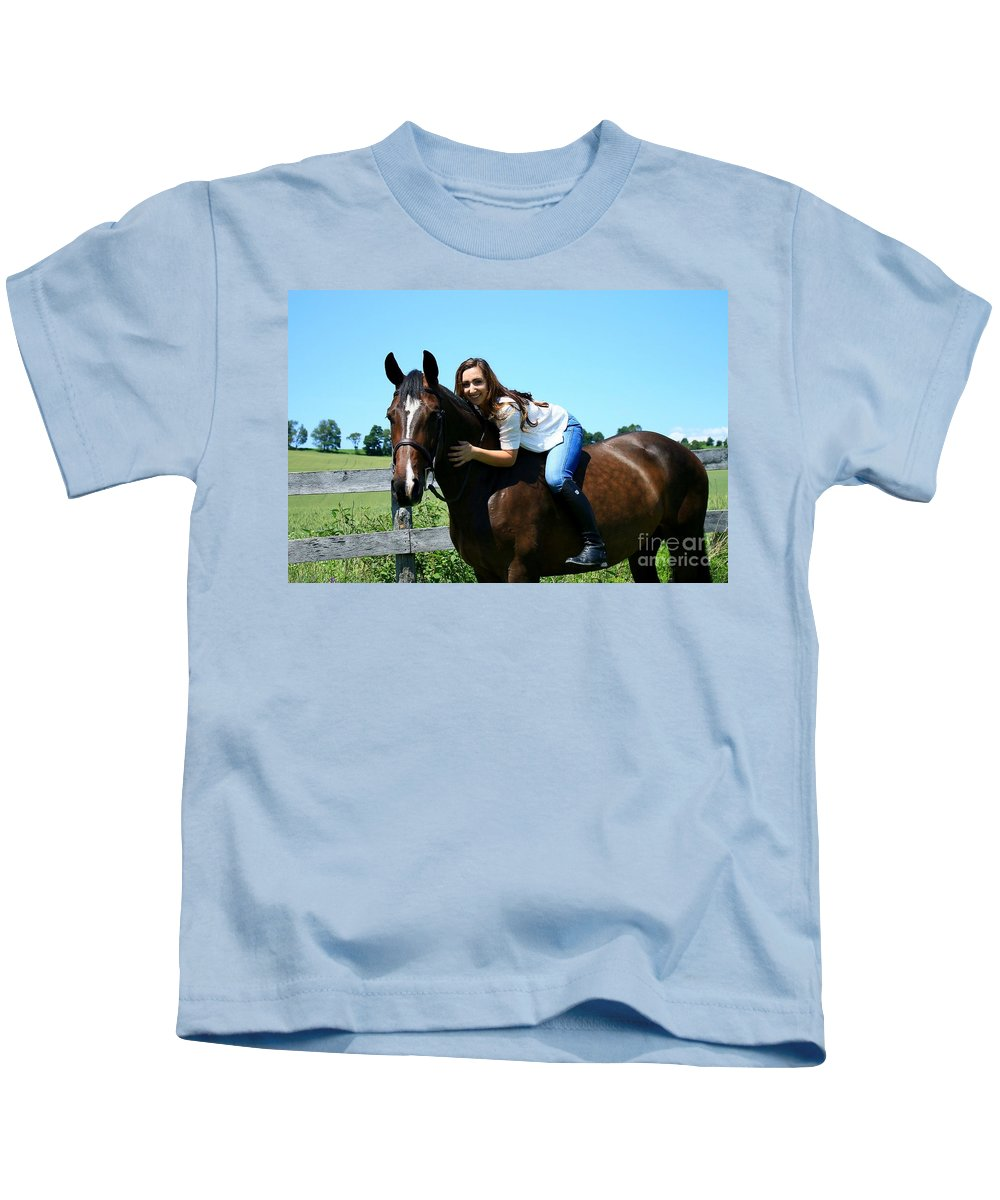 Kids T-Shirt featuring the photograph Lucia-cora29 by Life With Horses