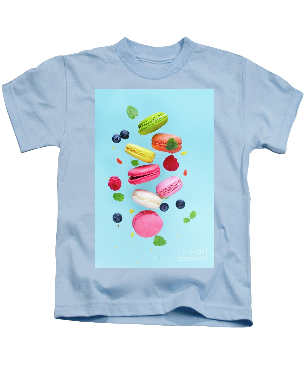 Macaroon Kids T-Shirt featuring the photograph Falling In Love With Macaroons by Anastasy Yarmolovich