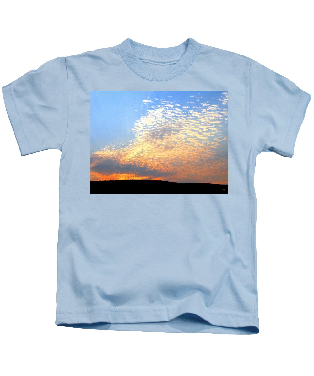 Mackerel Sky Kids T-Shirt featuring the photograph Mackerel Sky by Will Borden