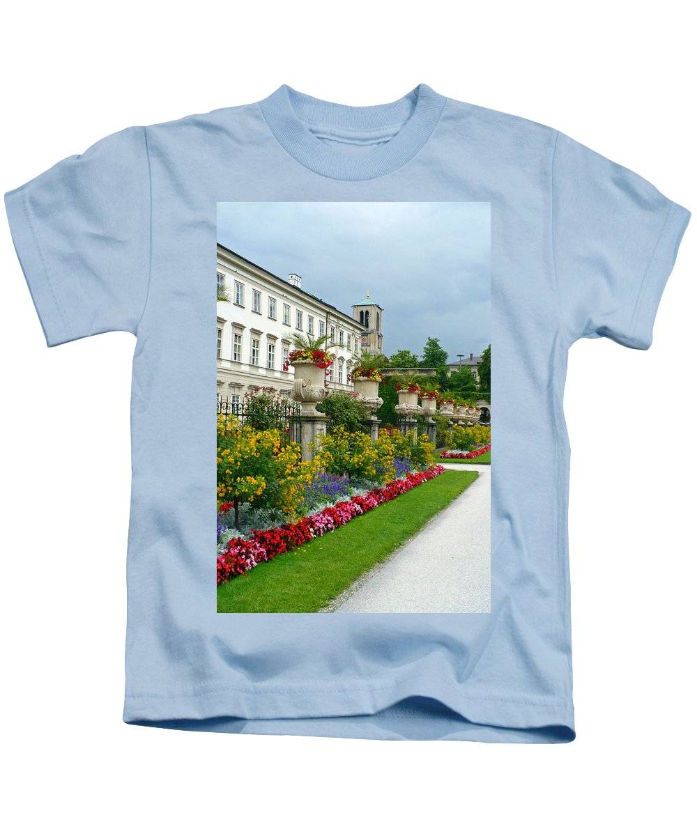 Garden Kids T-Shirt featuring the photograph Majestic Salzburg Garden by Carol Groenen