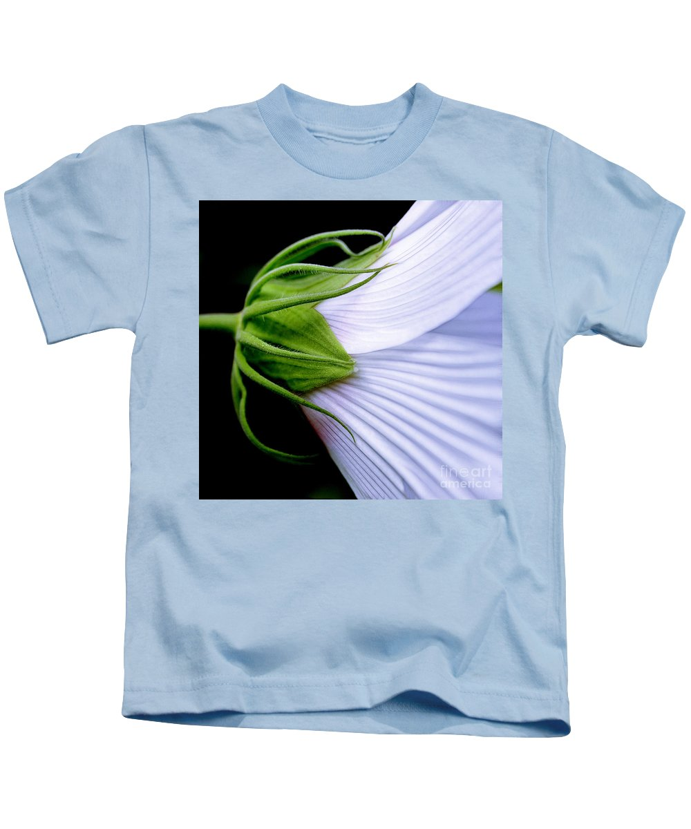 Mallow Kids T-Shirt featuring the photograph Mallow. . . Behind The Scenes by Judi Bagwell