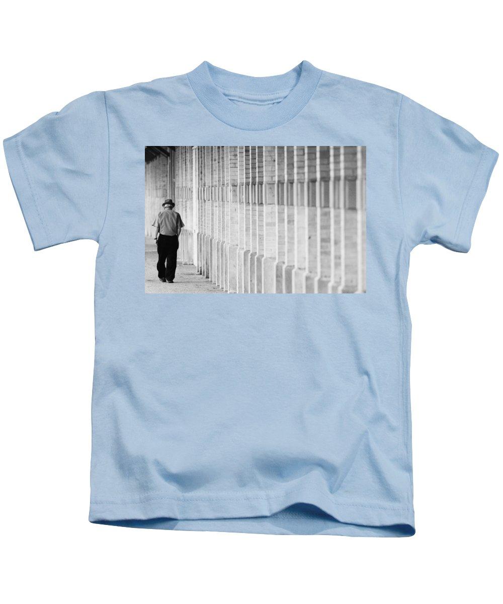 City Kids T-Shirt featuring the photograph Man Walking by Jill Reger