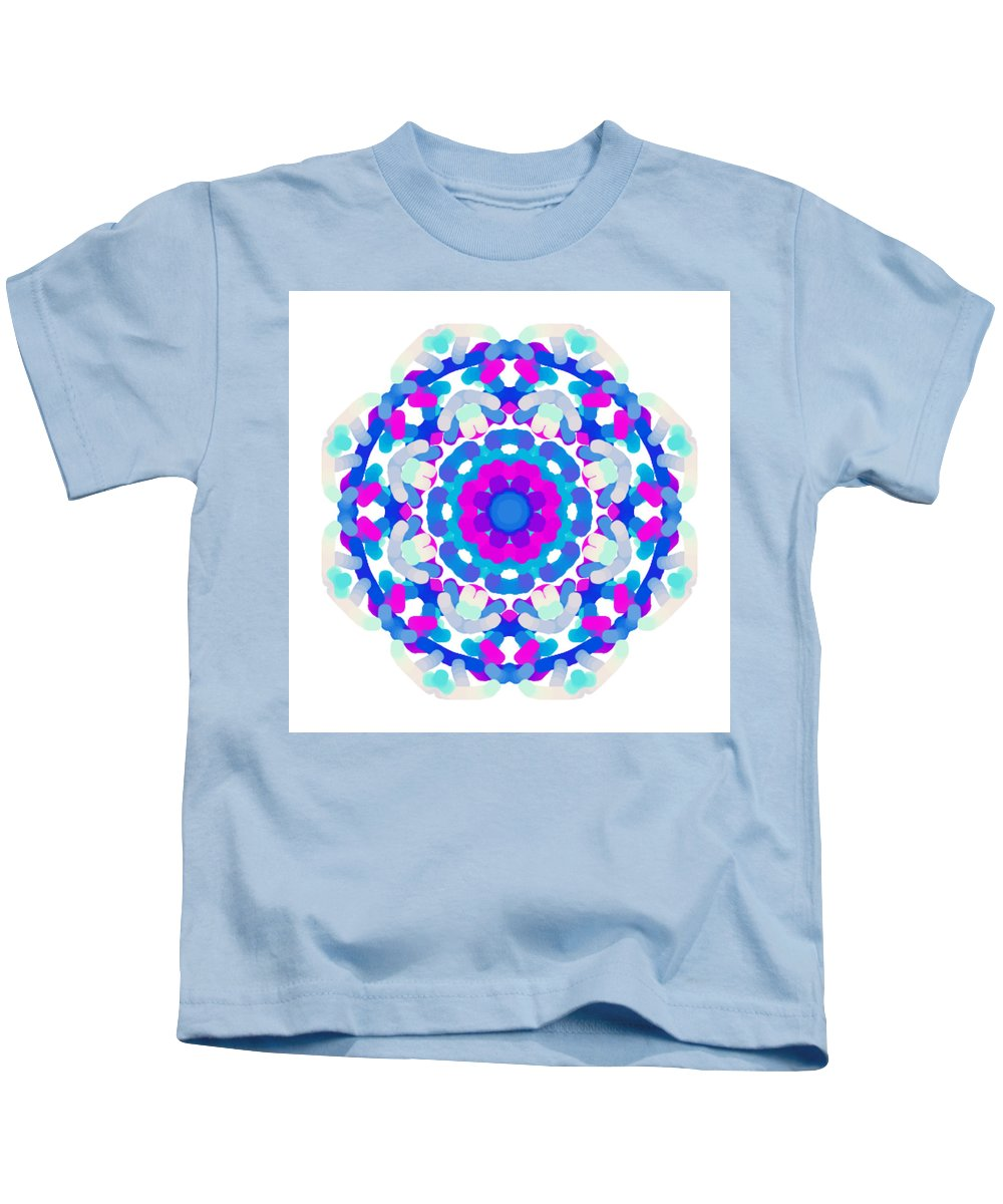 Shape Kids T-Shirt featuring the digital art Mandala Image #7 Created On 2.26.2018 by Marlene Mania