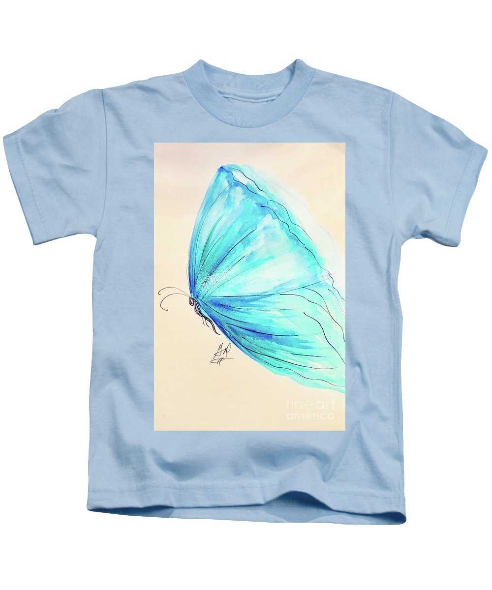 Masquerade Kids T-Shirt featuring the painting Masquerade Butterfly by Gail Nandlal