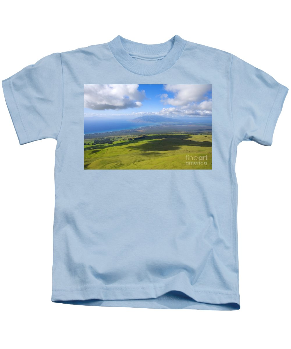 Aerial Kids T-Shirt featuring the photograph Maui Aerial by Ron Dahlquist - Printscapes