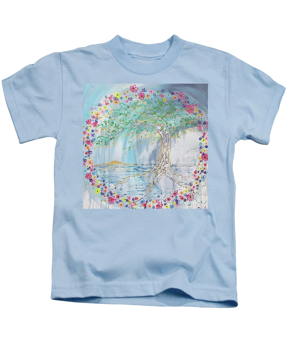 May Day Kids T-Shirt featuring the painting May Day by Cheryle Gannaway