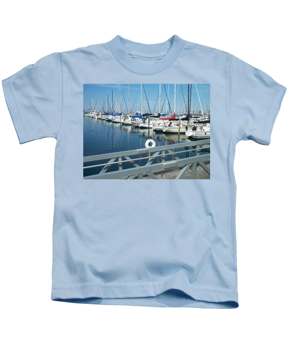 Mckinley Marina Kids T-Shirt featuring the photograph Mckinley Marina 4 by Anita Burgermeister