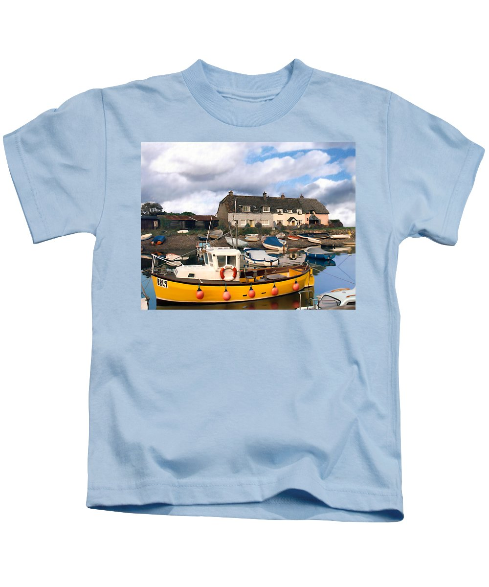 Harbor Kids T-Shirt featuring the photograph Minehead Sommerset by Kurt Van Wagner