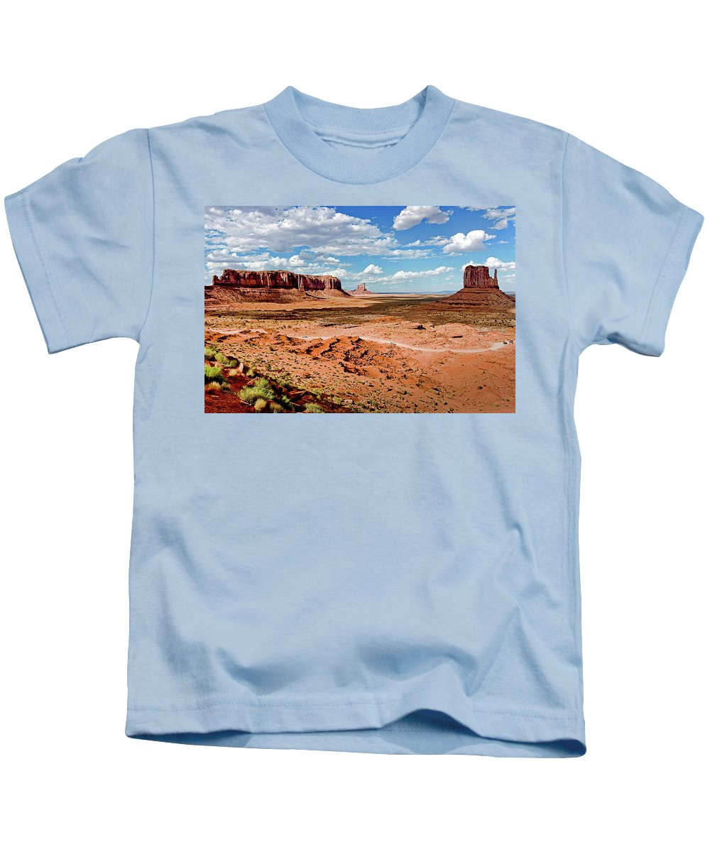 National Park Kids T-Shirt featuring the photograph Monument Valley National Park by Diwar Lee