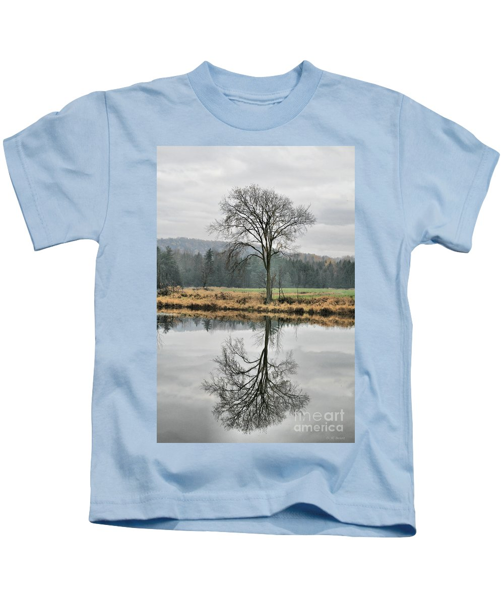 Reflections Kids T-Shirt featuring the photograph Morning Haze And Reflections by Deborah Benoit