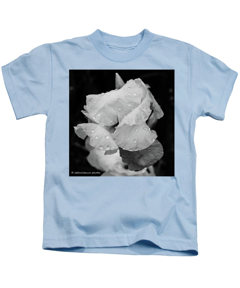 Flowers Kids T-Shirt featuring the photograph Morning Rain Drops by Danny Baum