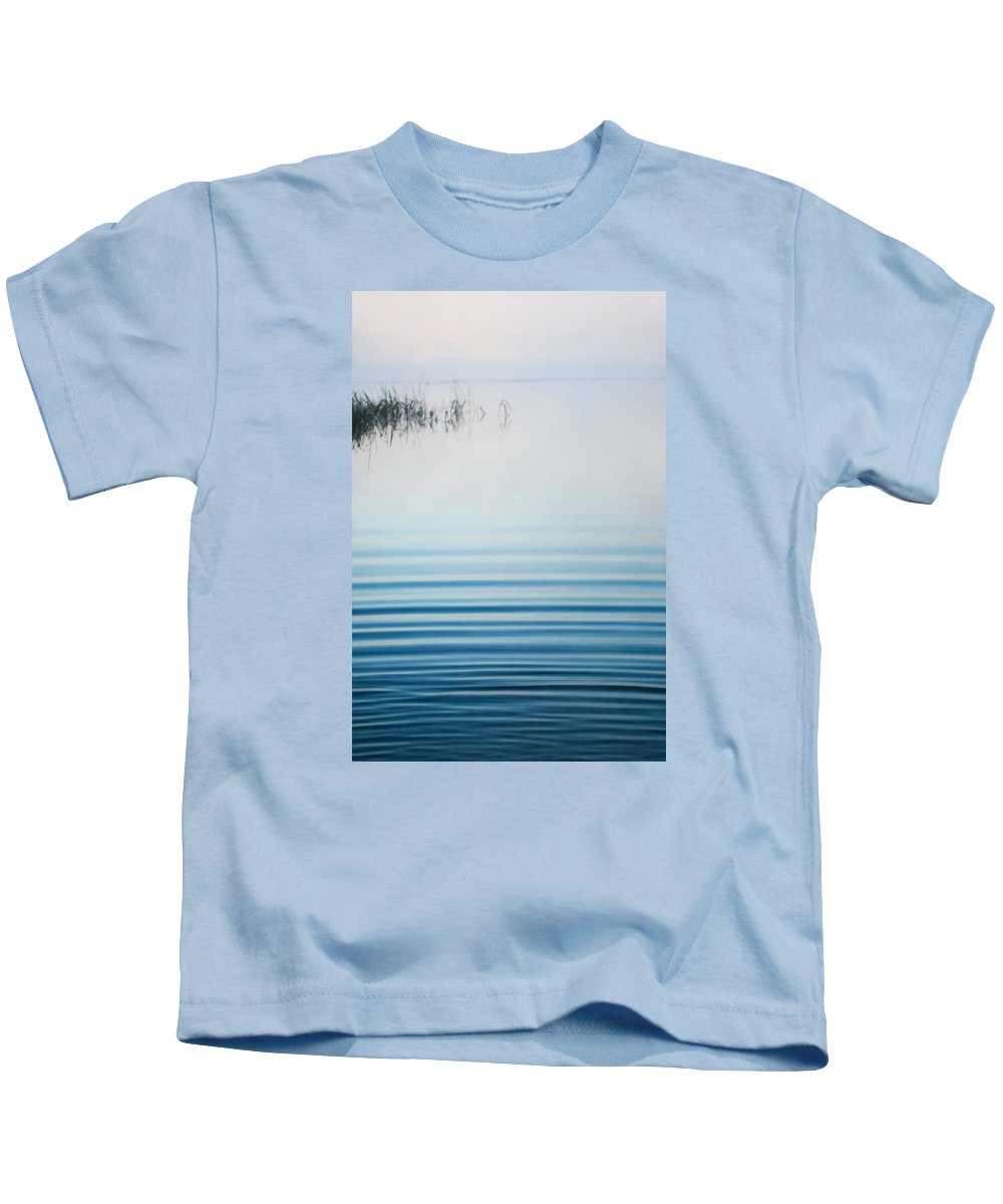 Fog Kids T-Shirt featuring the photograph Morning Ripples by Parker Cunningham