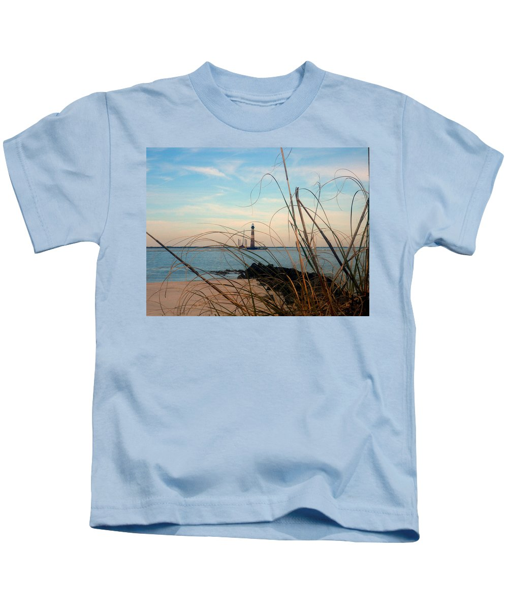 Photography Kids T-Shirt featuring the photograph Morris Island Lighthouse In Charleston Sc by Susanne Van Hulst