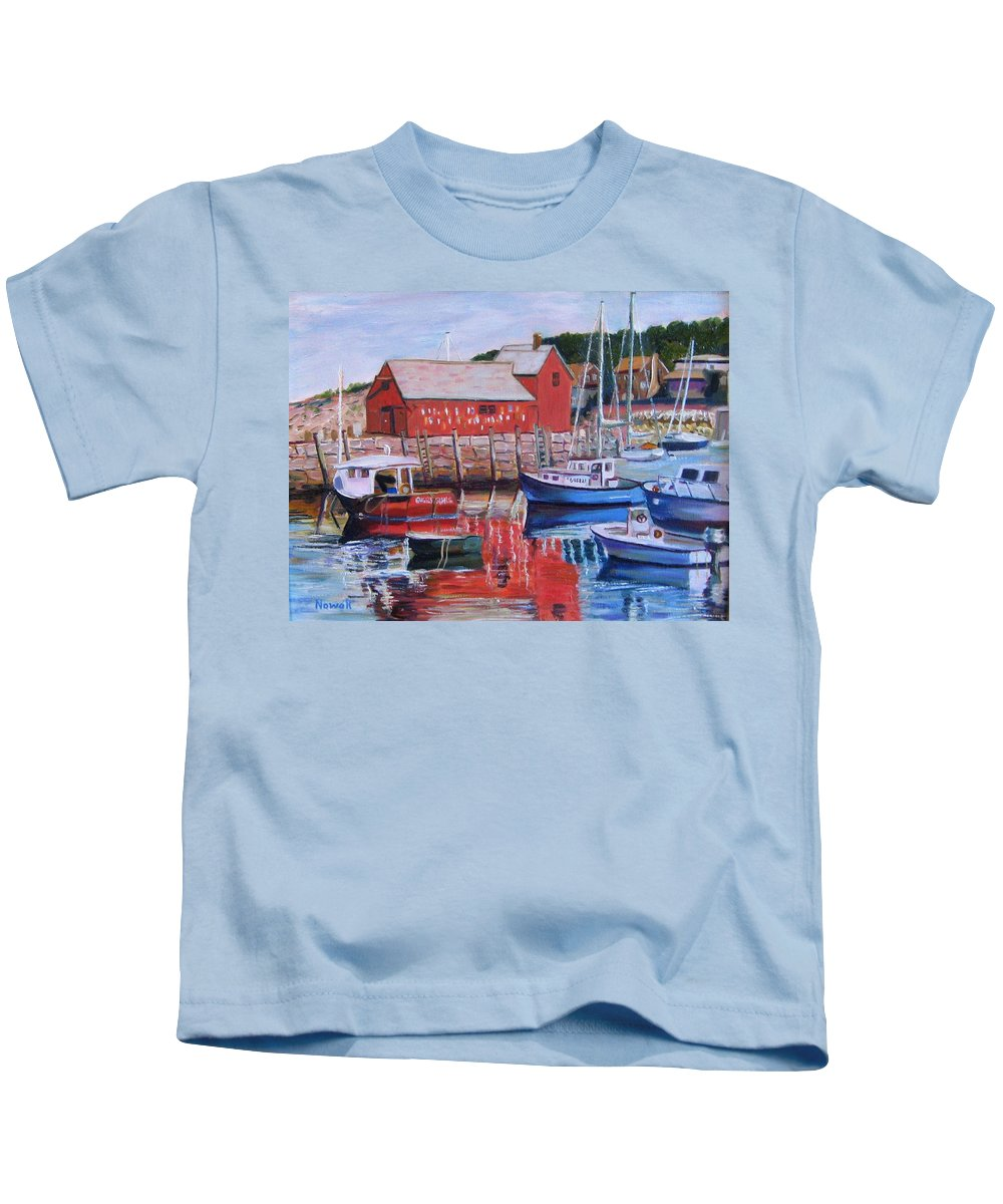 Rockport Kids T-Shirt featuring the painting Motif Number One by Richard Nowak