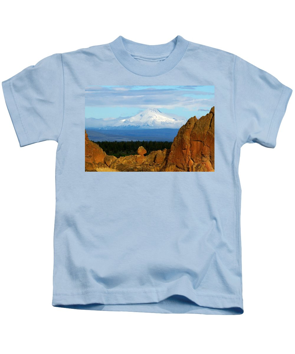 Mount Jefferson Kids T-Shirt featuring the photograph Mount Jefferson by Randall Ingalls