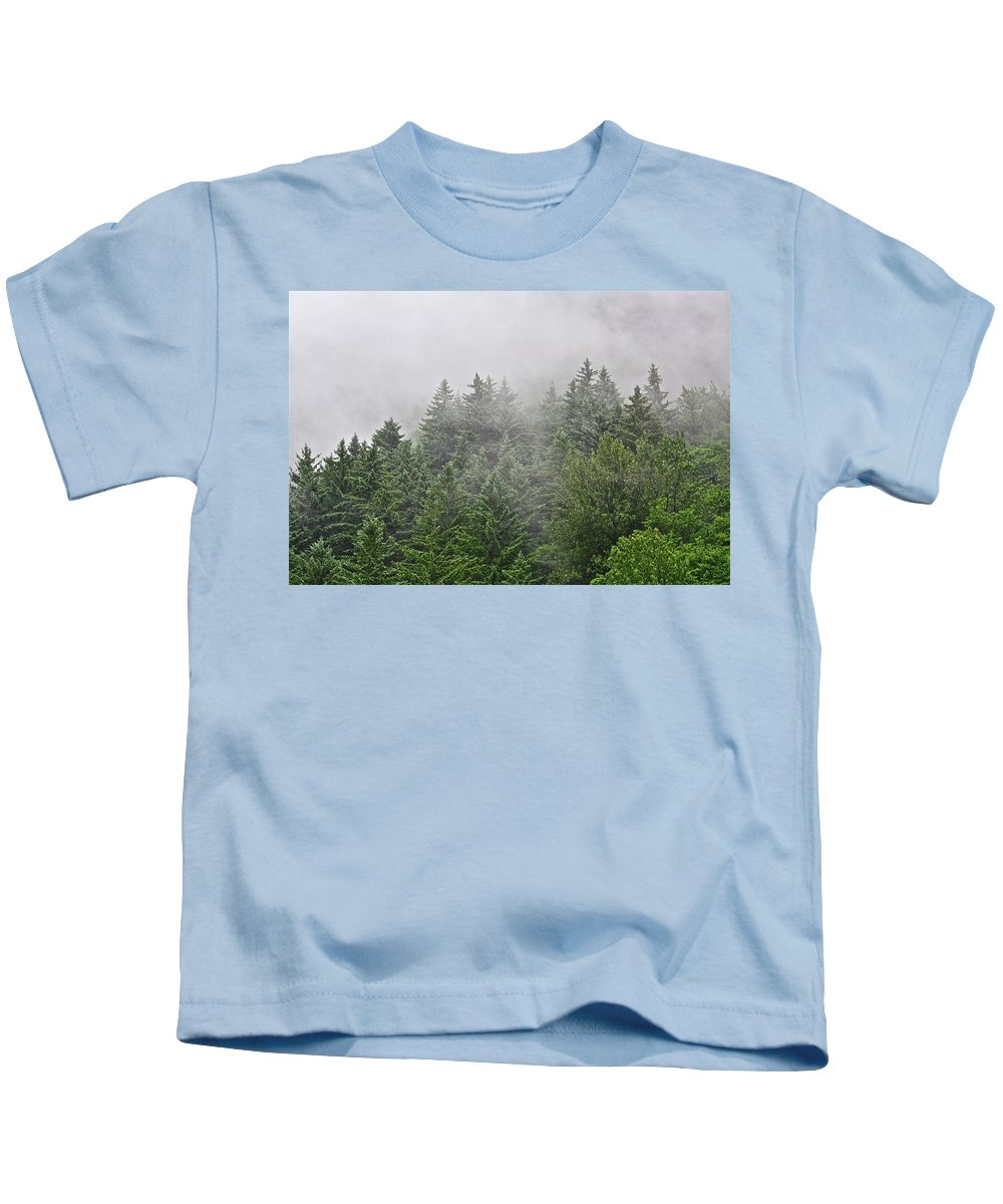Trees Kids T-Shirt featuring the photograph Mountain Mist by Diana Hatcher