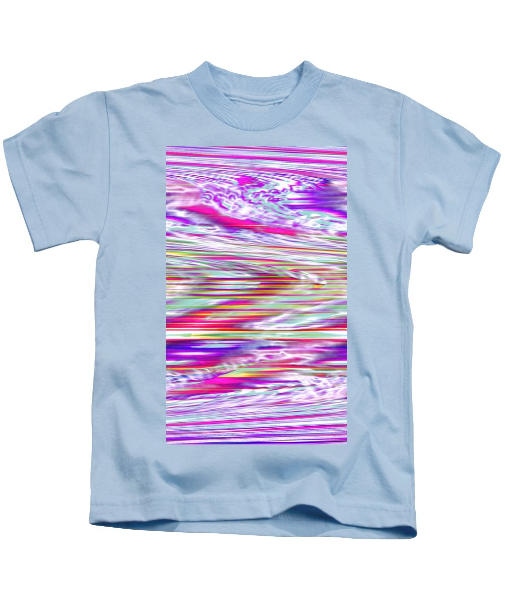 Moveonart! Digital Gallery Kids T-Shirt featuring the digital art Moveonart All Dreaming Now by Jacob Kanduch