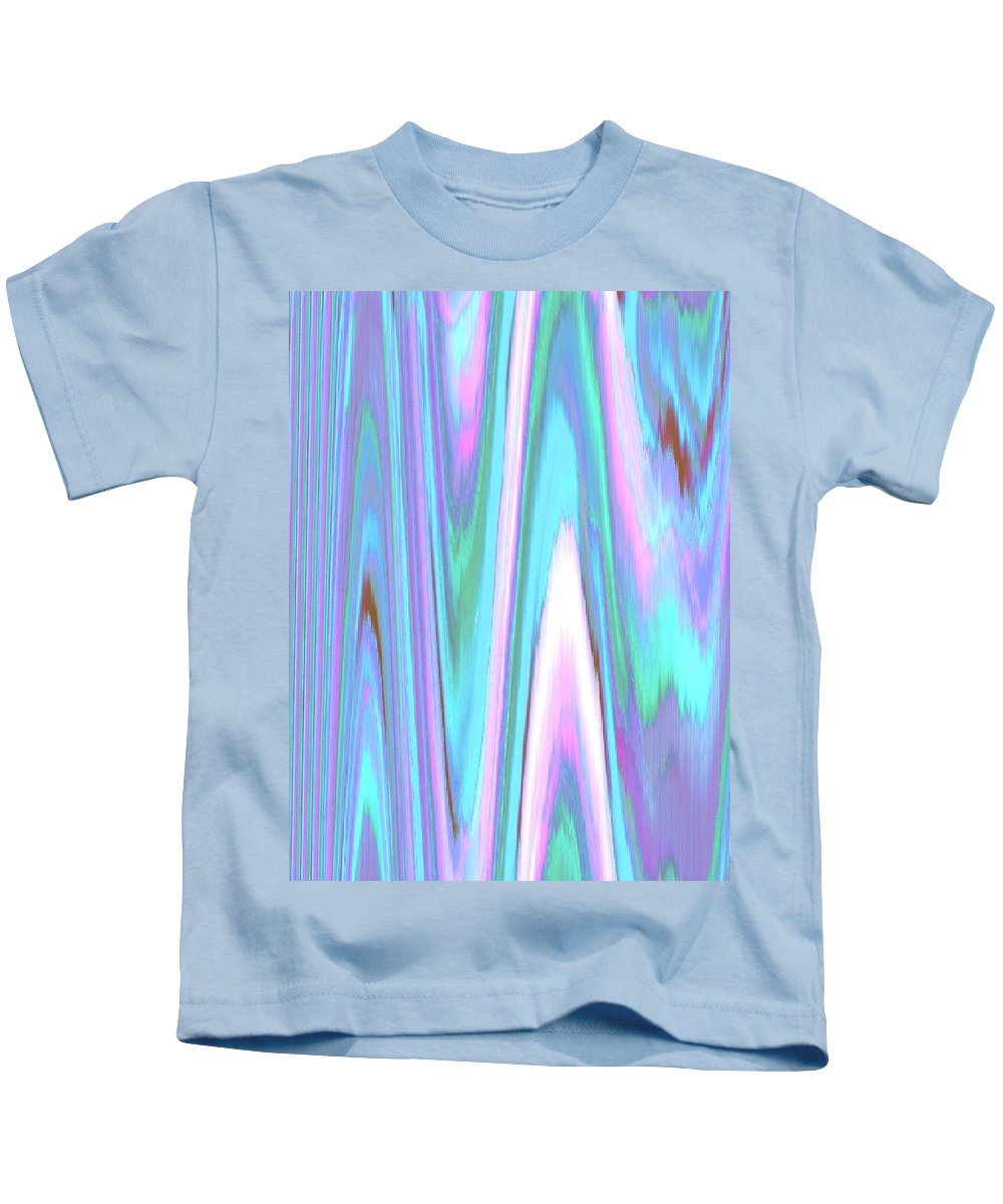 Moveonart! Digital Gallery Kids T-Shirt featuring the digital art Moveonart Color Mood Waves Two by Jacob Kanduch