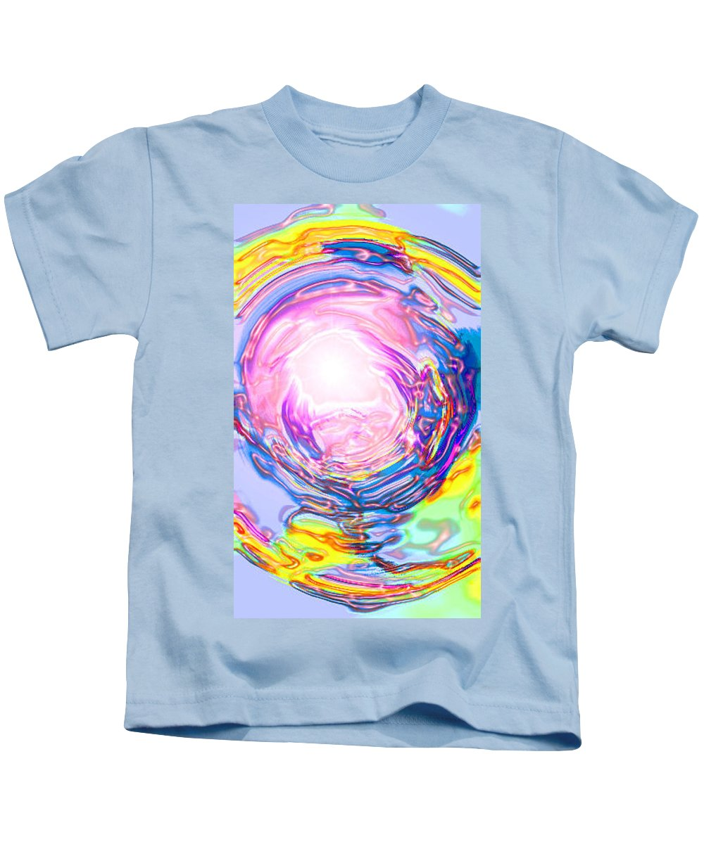 Moveonart! Digital Gallery Kids T-Shirt featuring the digital art Moveonart Deeper Calling by Jacob Kanduch