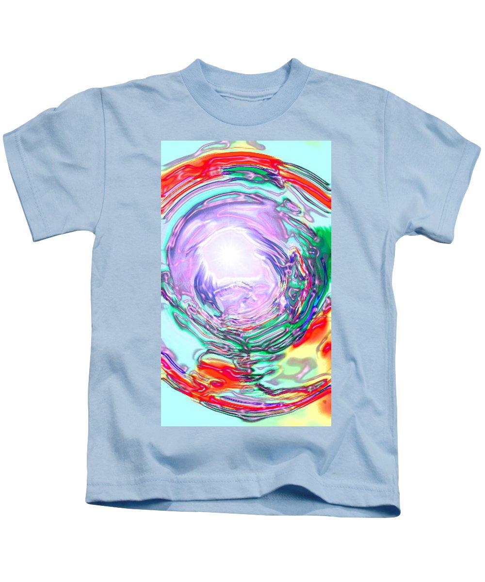 Moveonart! Digital Gallery Kids T-Shirt featuring the digital art Moveonart Finding True Purpose by Jacob Kanduch