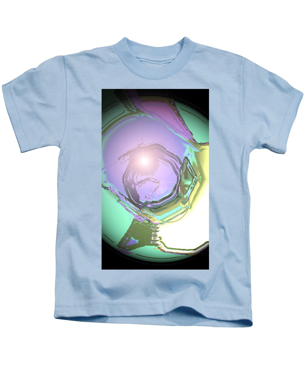 Moveonart! Digital Gallery Kids T-Shirt featuring the digital art Moveonart Good Consciousness For The World by Jacob Kanduch