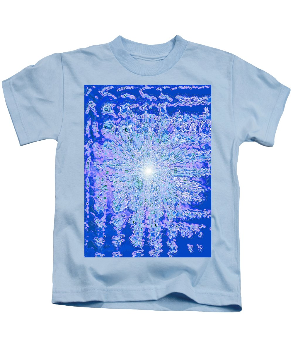 Moveonart! Digital Gallery Kids T-Shirt featuring the digital art Moveonart Intense Cool Centering by Jacob Kanduch