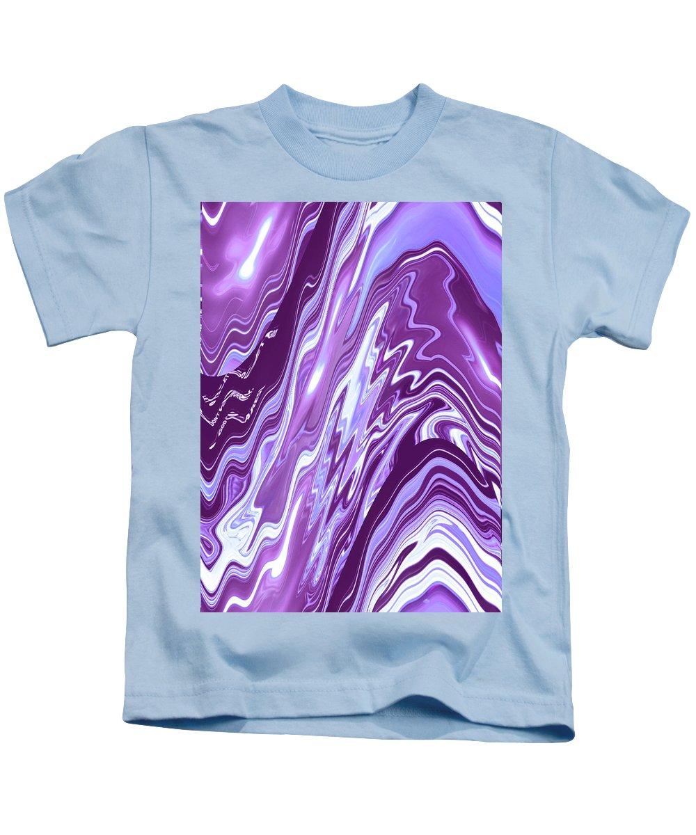 Moveonart! Digital Gallery Kids T-Shirt featuring the digital art Moveonart Letting Go Two by Jacob Kanduch