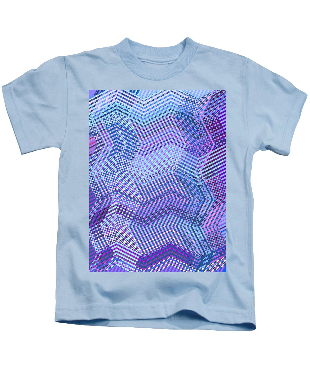 Moveonart Digital Gallery San Francisco California Lower Nob Hill Jacob Kane Kanduch Kids T-Shirt featuring the digital art Moveonart New Patterns 2 by Jacob Kanduch